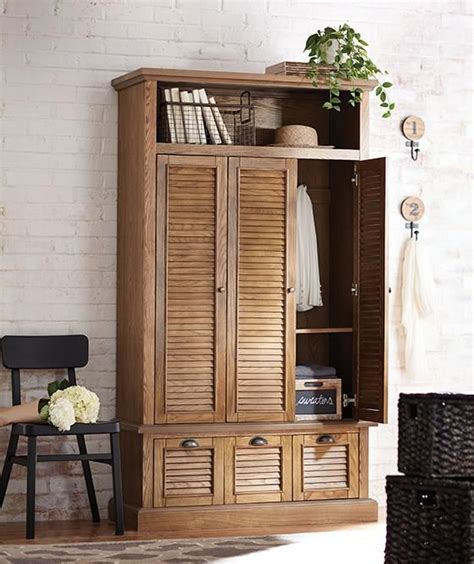 Coat Armoire Wardrobe by Armoire For Coats And Linens By The Front Door Since We