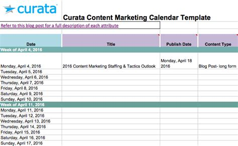 Content Calendar Template Editorial Calendar Templates For Content Marketing The