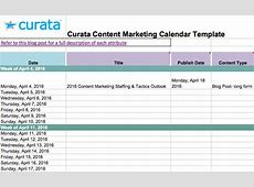 Editorial Calendar Templates for Content Marketing The