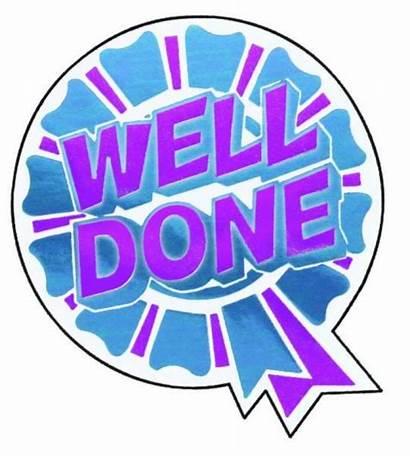 Done Well Rosette Stickers Sticker Merit Test
