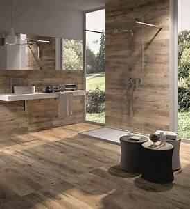 carrelage imitation bois dans salle de bain design With porte de douche coulissante avec carrelage salle de bain imitation parquet