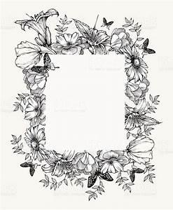 Black And White Vector Illustration Vintage Frame With ...