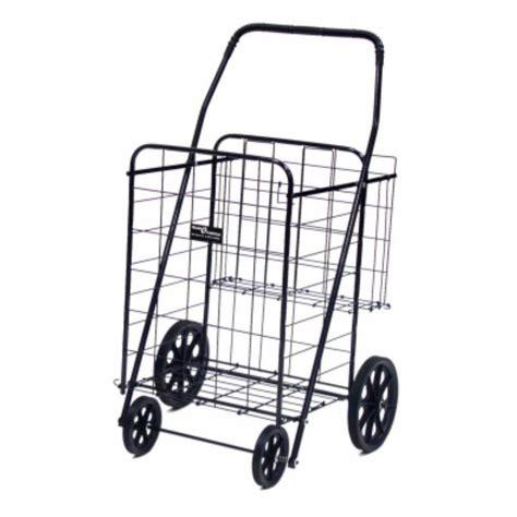 easy wheels jumbo  shopping cart  black bk