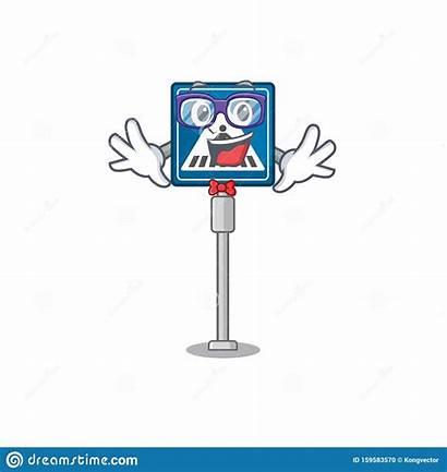 Crosswalk Geek Isolated Cartoon