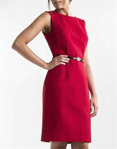 robe droite rouge robes femme roberto verino With robe droite rouge