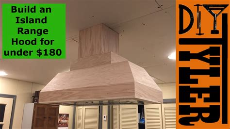 Kitchen Cabinet Island - build an island range hood for under 180 027 youtube