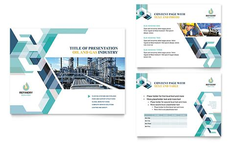 oil gas company powerpoint  template design