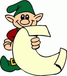 Christmas Elf with List Clip Art