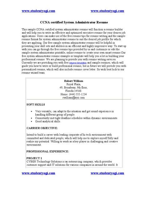 Senior Voip Engineer Resume by Cisco Certified Resume Sle Ccna Certified Engineer