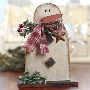 Christmas Wood Snowman