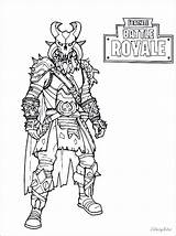 Fortnite Coloring Pages Ice King Drift Royale Battle Raven Printable Skins Bomber Books sketch template