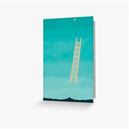 Georgia Greeting Ladder Moon Okeeffe Keeffe Cards