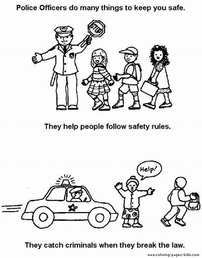 Coloring Pages Police Jobs Printable Sheets Sheet