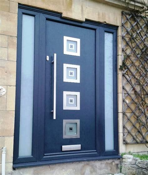 Inox Glazed Contemporary Composite Doors