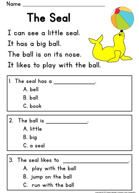 reading comprehension passages guided reading level