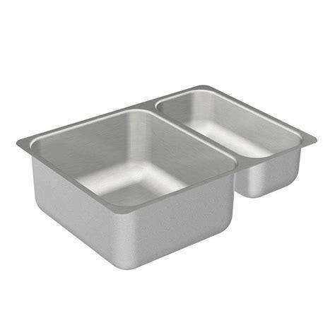 moen stainless steel kitchen sinks moen 2000 series undermount stainless steel 24 in 9286