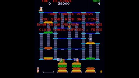Burger Time Arcade Game Intro Youtube