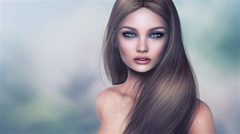 wallpaper long hair fantasy girl  uhd  picture