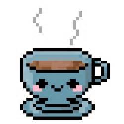 Cute Coffee Cup Pixel Art