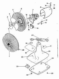 Kenmore Model 453800800 Portable  Table Top Fan Genuine Parts
