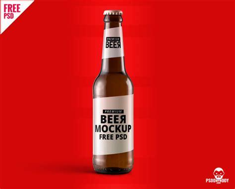 beer bottle mockup  psd psddaddycom