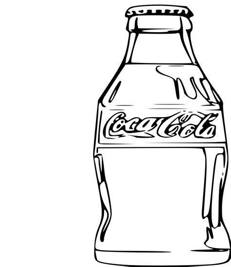 coca cola without coloring coca cola before coloring pages