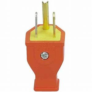 3 Wire Grounded Straight Plug