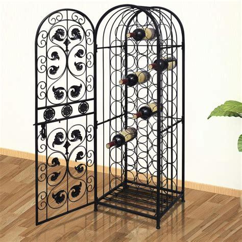 metal wine rack cabinet metal wine cabinet rack wine stand for 45 bottles vidaxl com