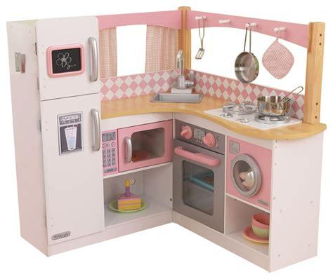 kidkraft home indoor decorative kids pretty girls grand gourmet corner kitchen contemporary