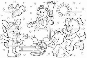 Winter Animals Coloring Pages Animals In Winter Coloring ...