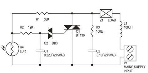 Automatic Dark Sensitive Lamp Off Switch Circuit
