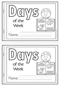 days of the week cut amp paste reader free kindergarten 496 | cd7f6accd9fa01424fd5d6b4daf686f9