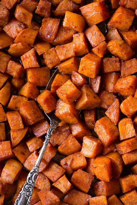 roasted sweet potatoes  cinnamon  honey butter