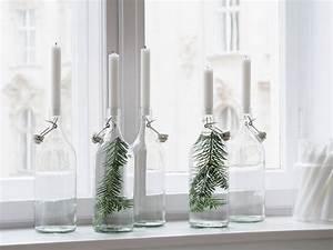 Deko Mit Flaschen : easy weihnachts diy kerzenhalter aus flaschen mit tannenzweigen traumzuhause ~ Frokenaadalensverden.com Haus und Dekorationen