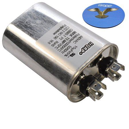 Electric Motor Capacitor by Hqrp 15uf 370 440v Capacitor Ac Electric Motor Run Start