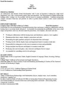 resume cover letter for visual merchandiser merchandiser cv exle cover letters and cv exles