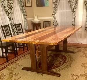 Logan's Live Edge Spalted Maple Dining Table - The Wood