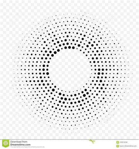 Circle Halftone Geometric Dotted Gradient Pattern Vector