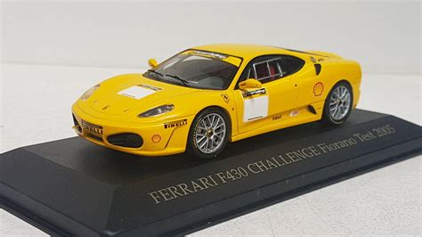 White stripes on sides 14 on sides hood and roof. Hot-Wheels Ferrari F430 Challenge Fiorano test 2005
