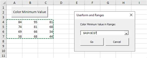 excel vba userform  ranges easy excel macros