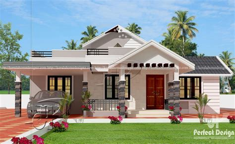 Kitchen Floor Designs Ideas - one storey house design with roof must see this homes in kerala india