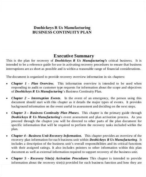 manufacturing business plan templates   word