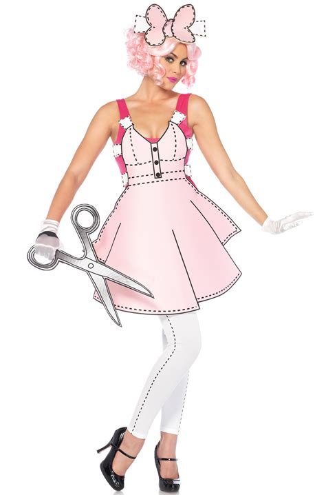 pretty paper doll adult costume purecostumescom