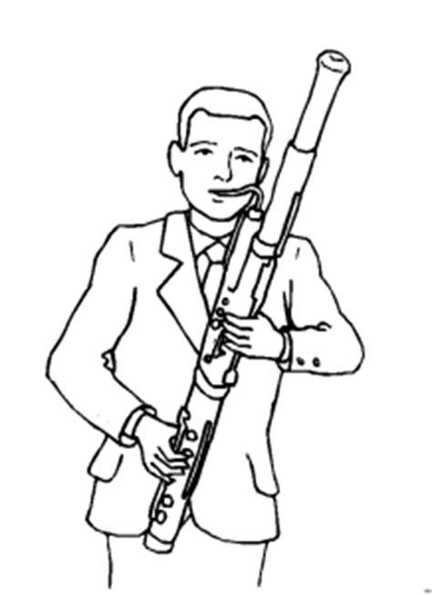 mann mit fagott ausmalbild malvorlage musik