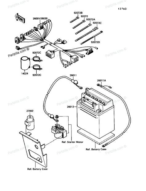 kawasaki atv parts 1990 klf220 a3 bayou 220 electrical