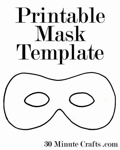 Mask Printable Halloween Template Templates Pdf Masks