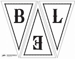 click the link above to download our free printable With triangle letter banner