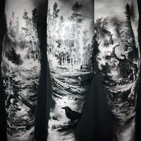 Forest Tattoo Designs For Men Masculine Tree Ink