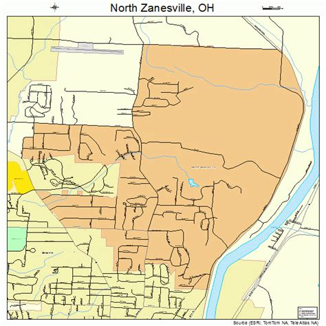 north zanesville ohio street map