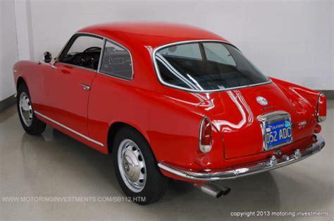 1962 Alfa Romeo Giulietta 1600 Sprint  Classic Italian
